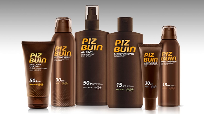 Piz Buin sunscreen line