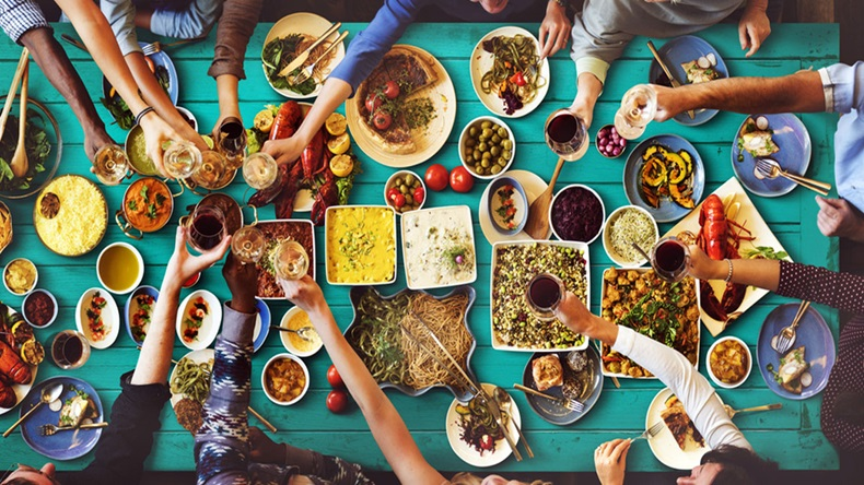 Friends Happiness Enjoying Dinning Eating Concept - Image